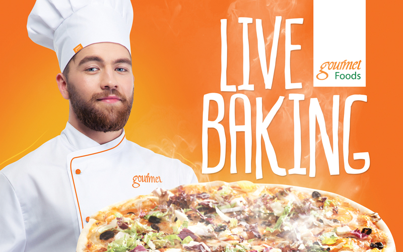 LIVE BAKING POSTER